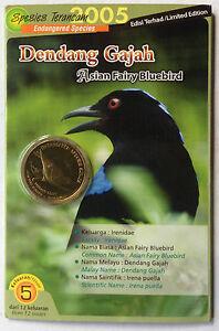 2005 Endangered Bird Coin Card - No. 5 Dendang Gajah