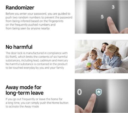 4 Key Tags Express Samsung SHS-P510 Push /& Pull Smart Door Digital Lock