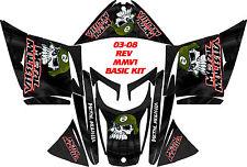 SKI DOO SNOWMOBILE WRAP REV,XP, XR,XS,XM MXZ  99-16 PLASMA OVAL BLACK MM STICKER