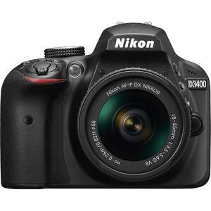 Nikon D3400 with AF-P DX 18-55mm f/3.5-5.6G VR Lens Kit
