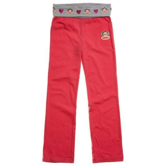 Paul Frank Julius The Monkey Joggers Girl/'s Pants Pink Size Large NWT