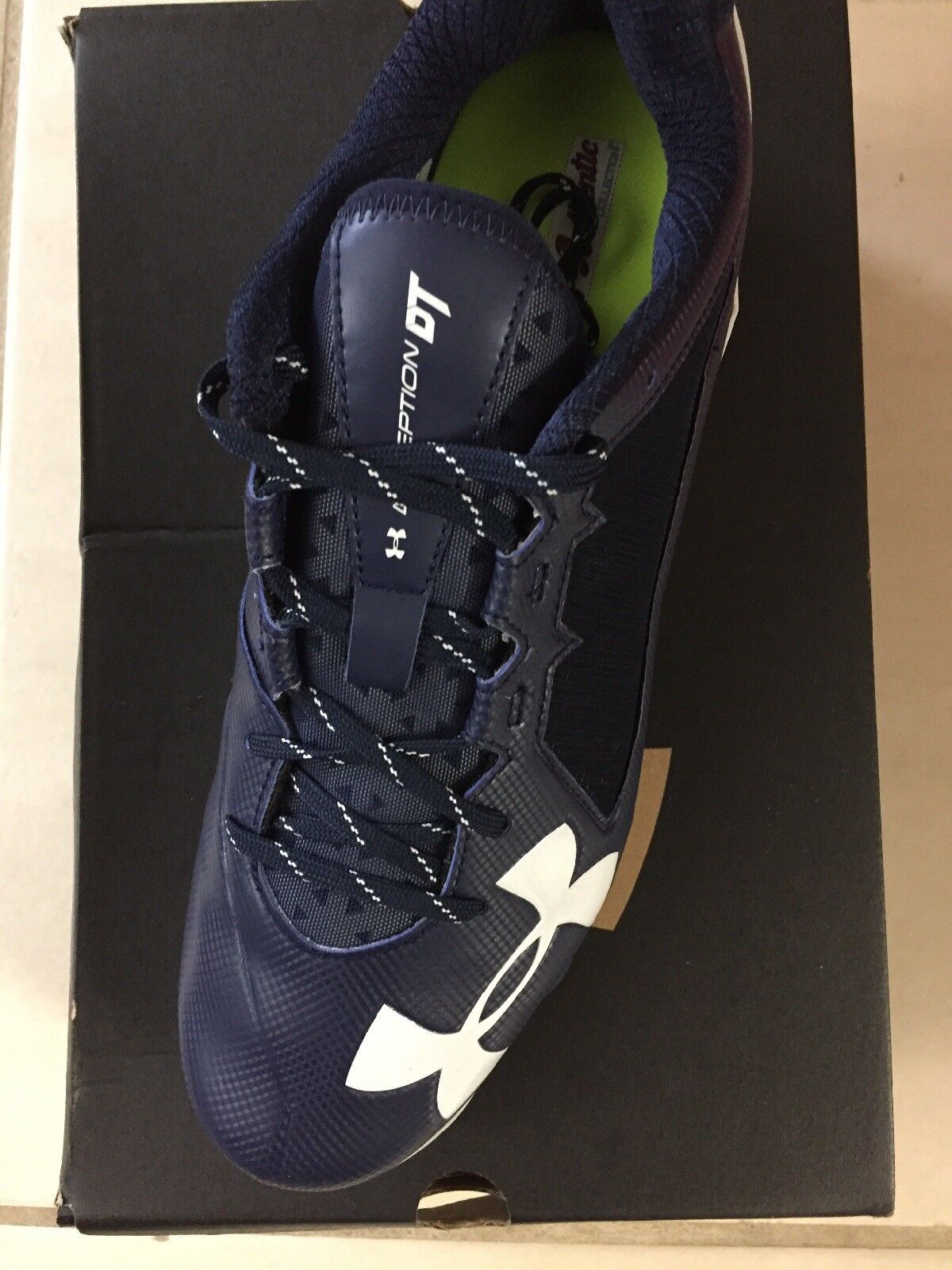 New UA Deception Low DT DiamondTips Metal MN SIZE 14 BSB Cleats bluee 1278705