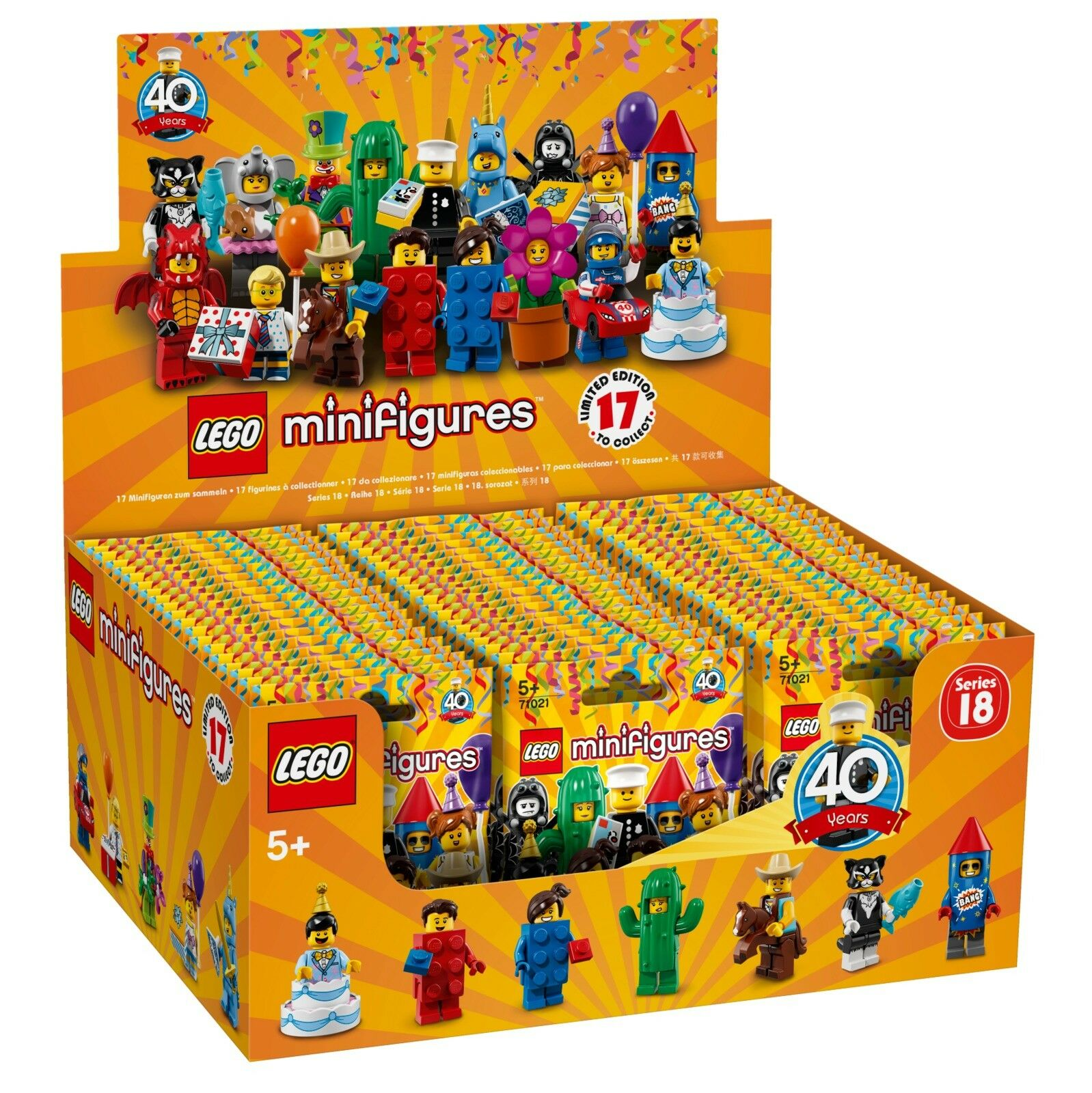 LEGO® 71021 Series 18 Minifigures - Factory Sealed Case of 60