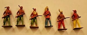6-Vintage-American-Indian-Miniature-Figures-5-5cm-X-2-5cm
