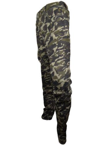 Jeans Hose Army Style Camouflage Damen 40-46 Flecktarn Cotton Baumwolle