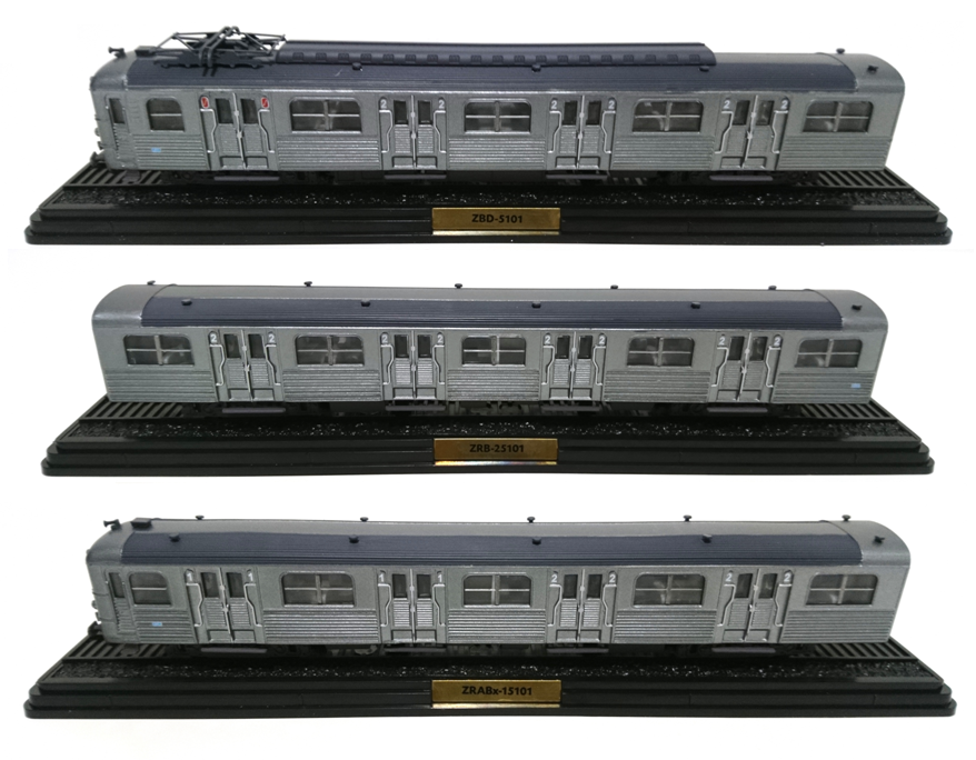 Set of 3 Railcars Z-5100 Ho 1:87 SNCF - French Railroad Train Locomotive Atlas