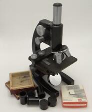 Bausch Amp Lomb Microscope Heavy Duty W 10x Eyepiece Adjustable Slide Bed