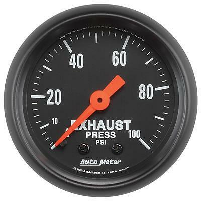 UNIVERSIAL DODGE FORD CHEVY AUTO METER Z-SERIES EXHAUST PRESSURE GAUGE 0-100 PSI