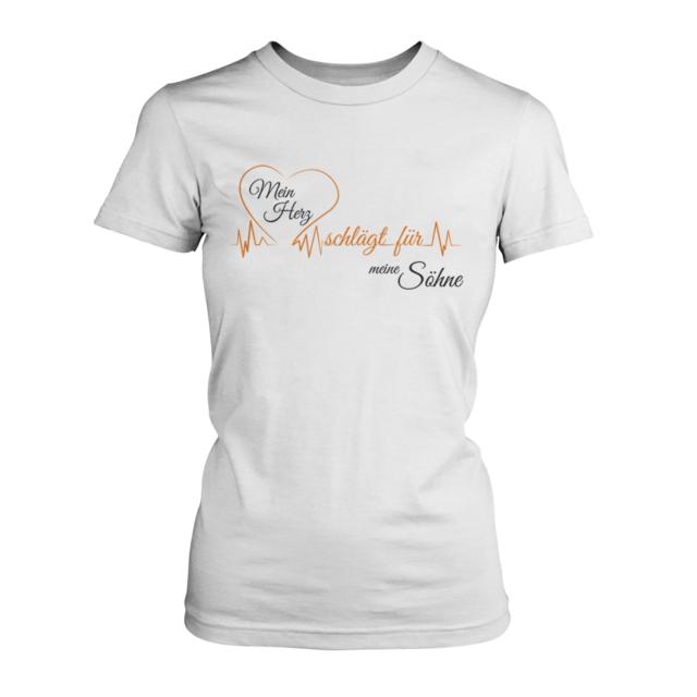 Mama Tochter Herz Seele Damen T-Shirt Spruch Muttertag Geburtstag Geschenk Idee