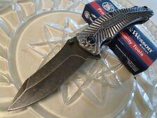 Couteau Smith&Wesson Stonewash Lame Acier 7Cr17MoV Manche Aluminium SW116