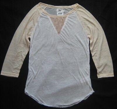 Camicia Da Donna Baseball Shirt Beige Peach Son Of John Burnout T Shirt Con Lustrini- Per Migliorare La Circolazione Sanguigna