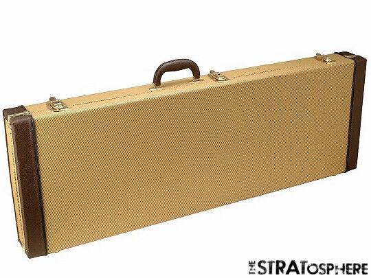 strat tele tweed hardshell case for fender stratocaster telecaster guitar ebay. Black Bedroom Furniture Sets. Home Design Ideas