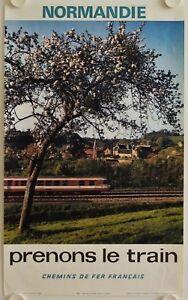 Affiche-Tourisme-SNCF-Prenons-le-Train-1970-NORMANDIE