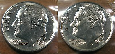 1990 P+D UNCIRCULATED ROOSEVELT DIMES NICE COIN STILL IN MINT CELLO L@@K