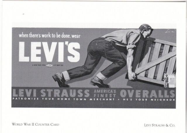 "*Postcard-""World War II Counter Card""   CLASSIC- *Levi Strauss & Co. (#156)"