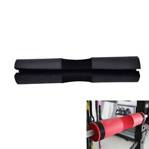 Barbell-Pad-Gel-Supports-Squat-Bar-Weight-Lifting-Neck-Protect-Pull-Up-BlacPLUS