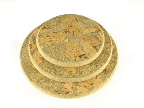 Chunky Round Natural Pattern Cork Hot Pot Stand Trivet