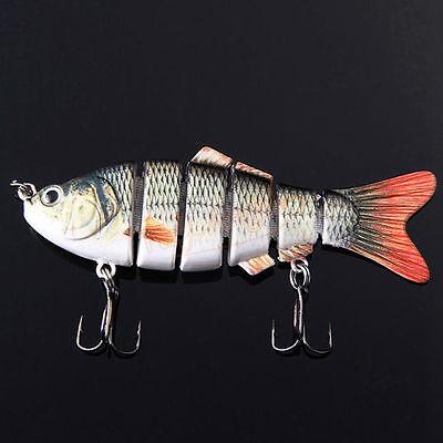 6 Jointed Proberos Fishing Lures Bait Swimbait Life-like Sink Hook Tackle