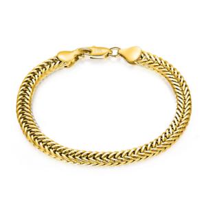 Fashion-18K-Gold-Plated-Fox-Tails-Chain-Bracelet-Bangle-Wristband-Jewelry-6MM