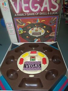 Details about Vegas Board Card Game Vintage Milton Bradley 1974 Complete in  Box Retro Family