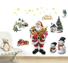 Xmas Tree Santa Claus Snowman Christmas Decor Wall Window Stickers Mural  Decals Part 54