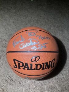 Philadelphia 76ers EARL CURETON Signed Basketball 83 NBA Champs