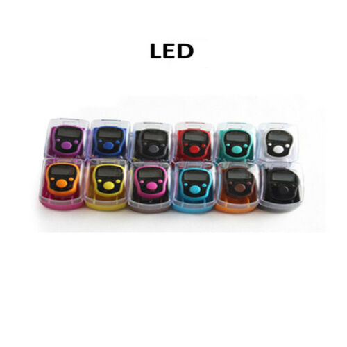 Digits LED Muslim Tally Counter Finger Ring Hand Tally Counter Digital Timers u