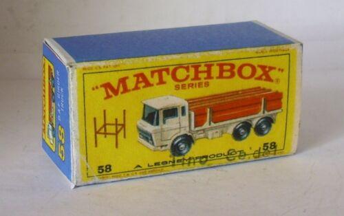 Repro Box Matchbox 1:75 Nr.58 DAF Girder Truck