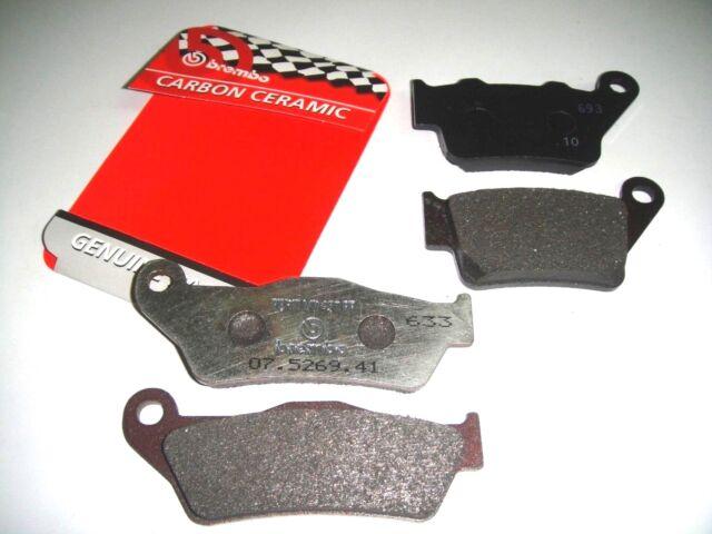 0235 Pastillas Freno Brembo Delanteros + Traseros KTM LC4 Supermoto 620 2001