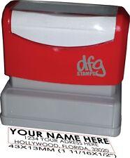 Personalized Returned Address Self ink Stamp, Pre Ink, Rubber Stamp, 3 Lines