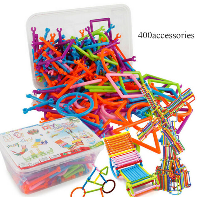 500pcs Plastic Funny Colorful Building Block Bricks Sets Stick Educational Toys