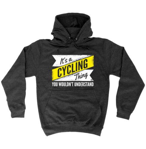 La sua una cosa CICLISMO à capire Cappuccio Felpa Con Cappuccio Compleanno Regalo Rider Biker Gear