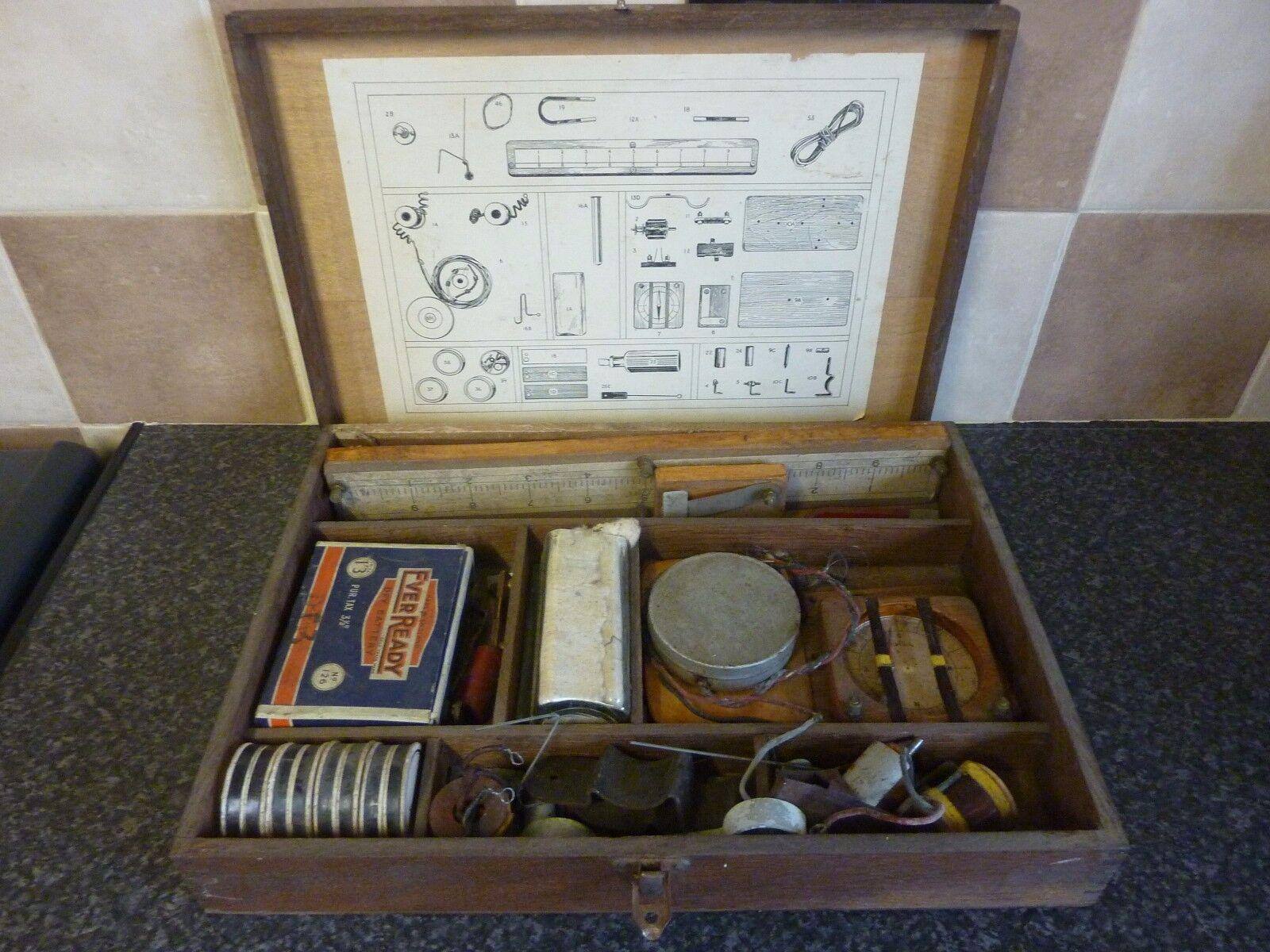 VINTAGE 'STEMEL' ELECTRICAL CONSTRUCTIONAL EDUCATING SET IN ORIGINAL BOX GOOD