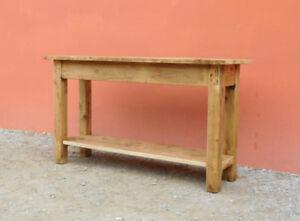 Tavoli In Legno Massello Rustici : Tavolo bancone rettangolare rustico in legno massello l p