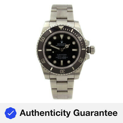 Rolex Submariner No Date Steel Ceramic Black Dial Mens Watch 114060