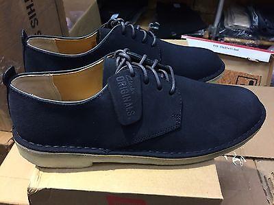 Men's Clarks Originals Desert London Midnight Suede Shoes 26122624 | eBay
