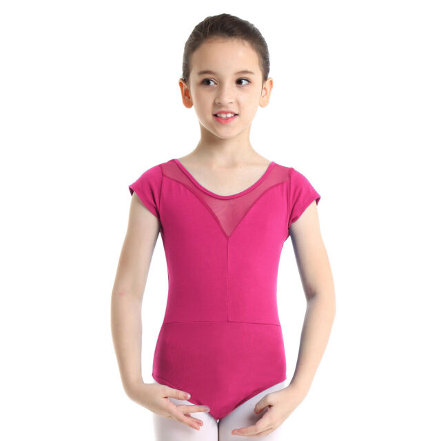 iEFiEL Girls Short Sleeve Gymnastic Ballet Leotards Dancewear Costume