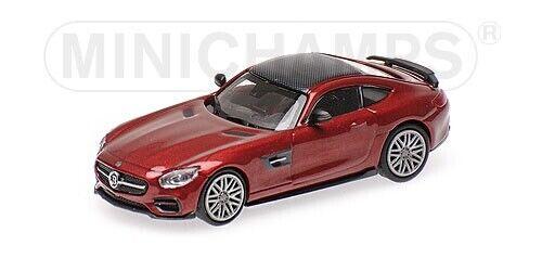 Minichamps 870037321 Brabus 600 auf Mercedes Benz AMG GTS rotmetalic HO 1:87 NEU