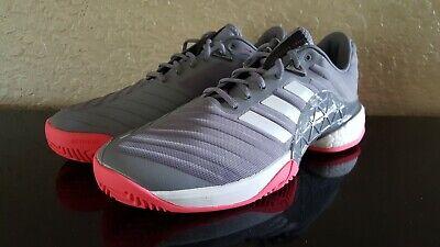 Adidas Mens Barricade 2018 Boost Tennis Shoes GreyScarlet DB1570 | eBay