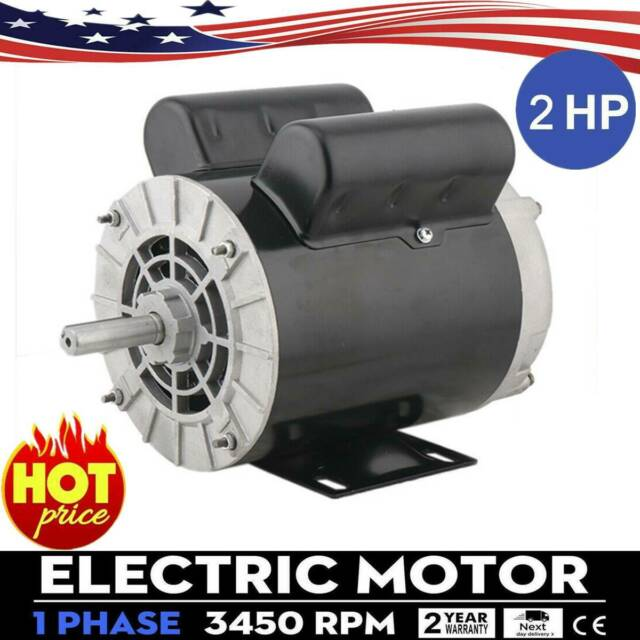 "5 HP SPL 230V 3450RPM Electric Air Compressor Duty Motor 56 Frame 5//8/"" Shaft US"