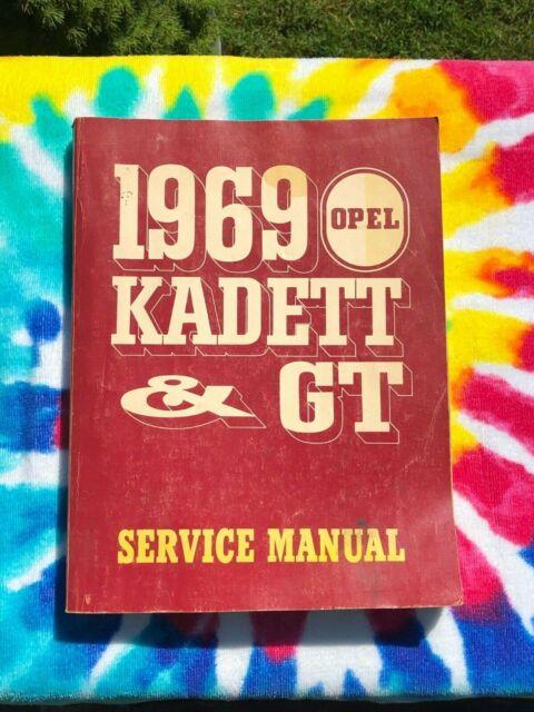 1969 Opel Kadett & GT Service Manual w/ Wiring Diagrams GM ...