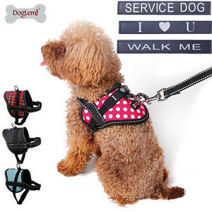Service Dog Harness Soft Vest for Small Medium Dogs Pet Puppy Collar