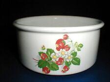 Portmeirion China England STRAWBERRIES Drum Shape Vegetable Souffle Bowl