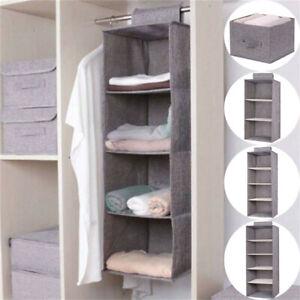 3-5-SectionWardrobe-Hanging-Clothes-Storage-Organiser-Holder-Closet-Drawer-Shelf