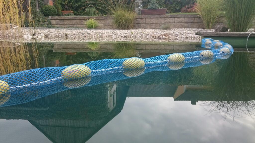Zugnetz, 7,5m x 1,5m, 3 mm Maschen  Schleppnetz,Trennnetz f. Koi,Karpfen,Forelle
