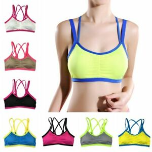 Women-Seamless-Racerback-Sports-Bra-Yoga-Workout-Stretch-Fitness-Padded-Tank-Top