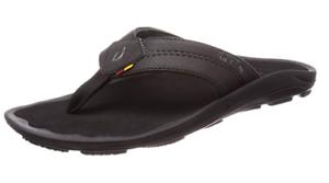 Olukai Kipi Negro Negro Flip Flop Sandal hombre Tallas 8-14 NEW