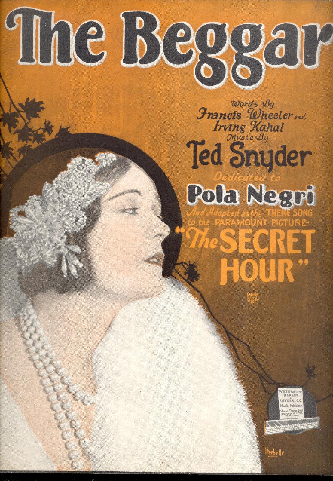 Die Geheime Stunde Notenblatt The Beggar cm Pola Negri