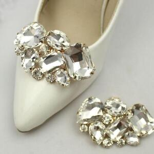 Pro woman rhinestones bow sparkle bridal wedding shoe clips image is loading pro woman rhinestones bow sparkle bridal wedding shoe junglespirit Image collections