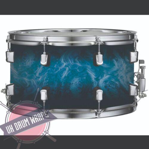 Blue Burl Fade  DRUM WRAP ALL SIZES PLASTIC !